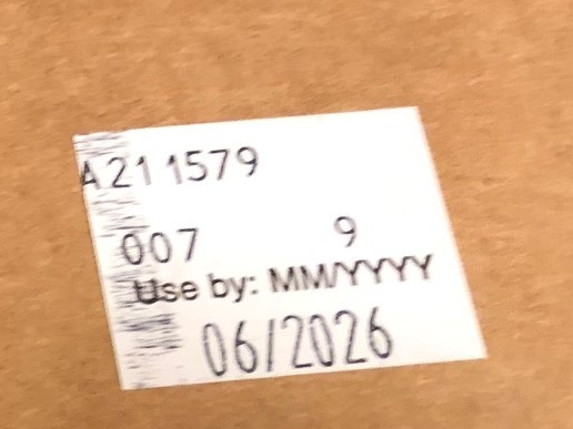 Lot number and Expiration Date