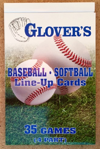 Glovers score books - 35 game line up cards