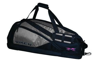 Miken Elite Player Bag Silver and Black