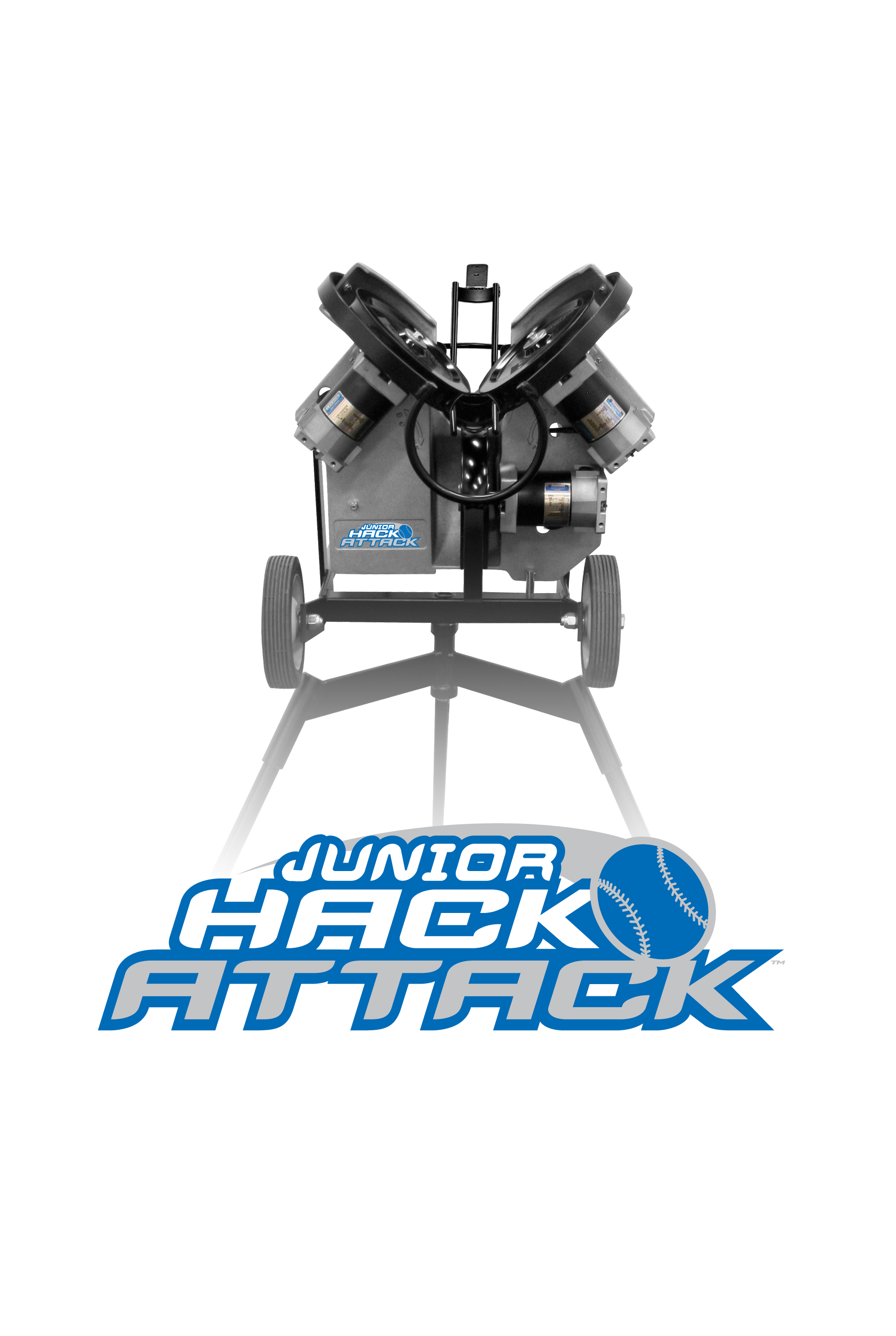 Junior Hack Attack Three Wheel Baseball Pitching Machine