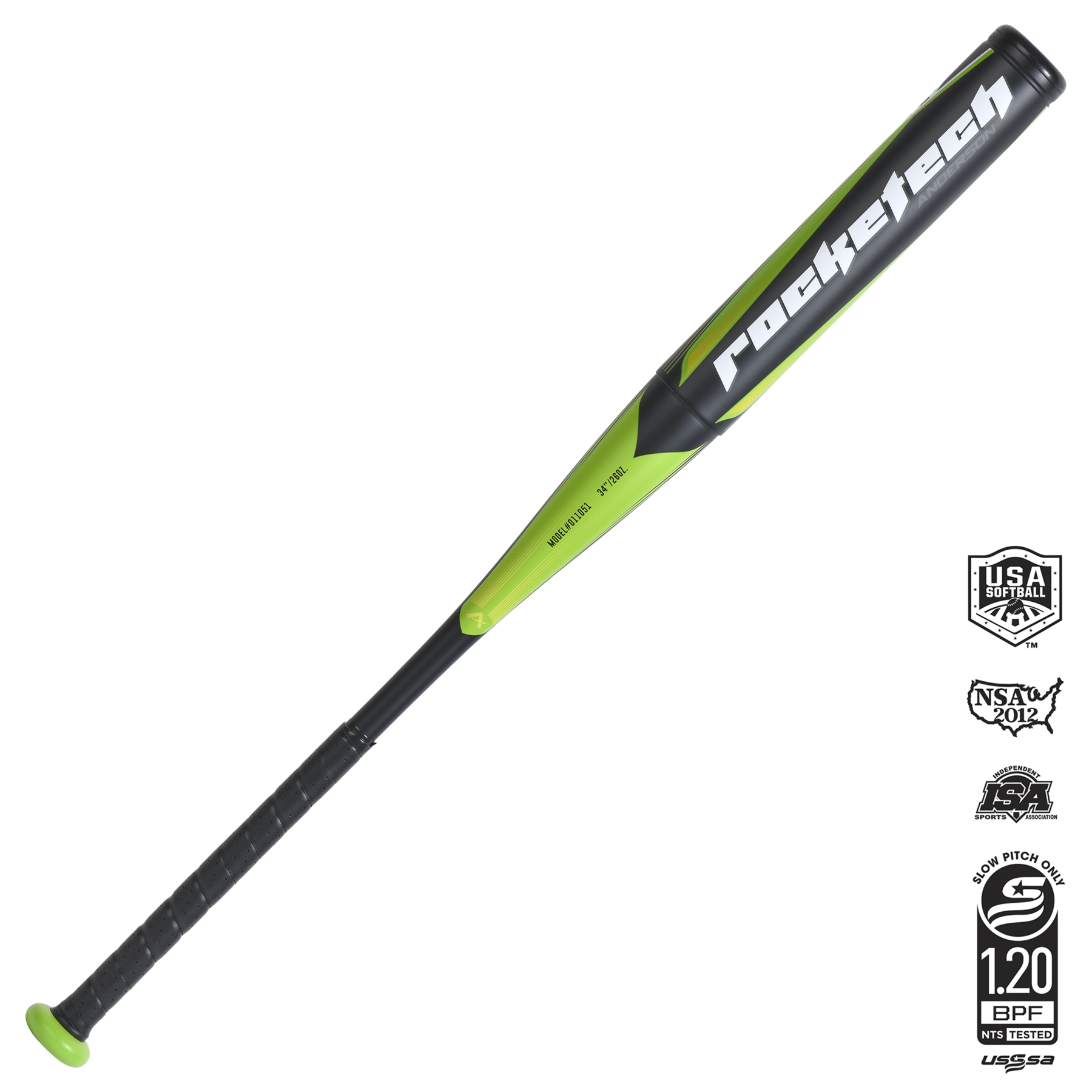 ROCKETECH SLOWPITCH DOUBLE-WALL SOFTBALL BAT 2021
