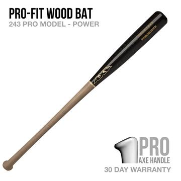 PRO-FIT 243 MODEL POWER WOOD BAT - PRO AXE HANDLE