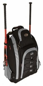 Miken MVP Backpack Silver & Black